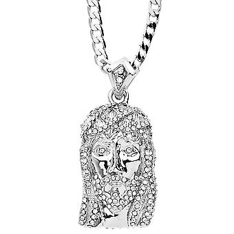 Iced Out Bling MINI Kette - JESUS silber