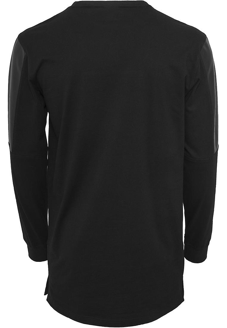 Urban Classics men's leather imitation Block Longsleeve
