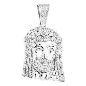 Premie Bling - 925 sterling zilver Jezus hoofd hanger