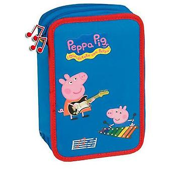 Import Peppa Pig Music Plumier 2 Cremalleras (Toys , School Zone , Pencil Case)