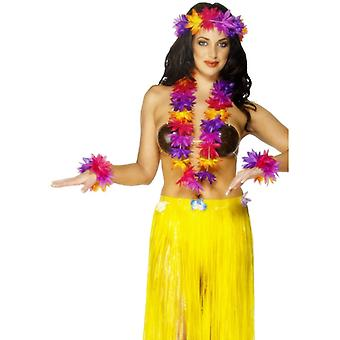 Flower chain Kit chain of Hawaiian Hula set 4 pieces