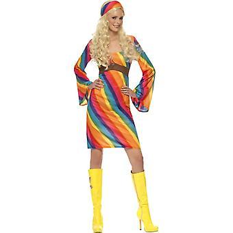 Rainbow hippie Lady costume