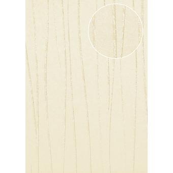 COL-566-8 non-woven wallpaper smooth lustrous design stripes wallpaper Atlas light ivory cream 5.33 m2