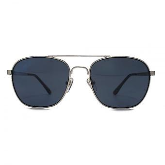 Levis Square Pilot Sunglasses In Matte Silver Polarised