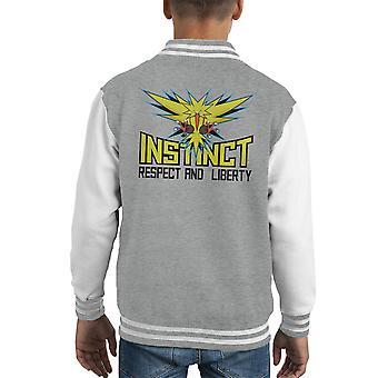 Team Instinct Pokemon Go Kid's Varsity Jacket