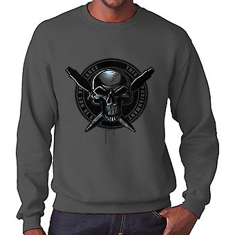 Bleg Rider Punisher mænds Sweatshirt