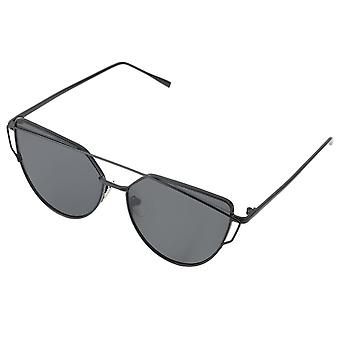RetroUV® New Cat Eye Aviator Sunglasses Women Fashion Retro Metal Frame Shades