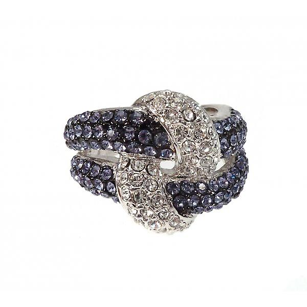 W.A.T glitrende Crystal knute ringen