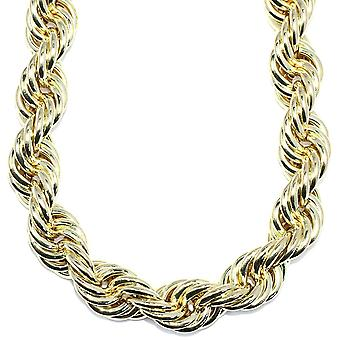 18k Gold Plated Jumbo Hip Hop Rope Chain 20 mm x 24 duim lang