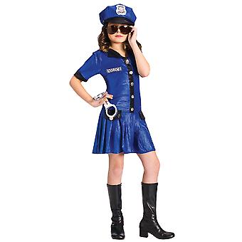 Police Chief Officer Cop ensartet Dress Up pige kostume