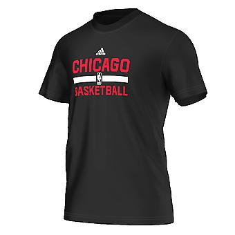 ADIDAS chicago bulls basketball winter hoops game t-shirt [black]
