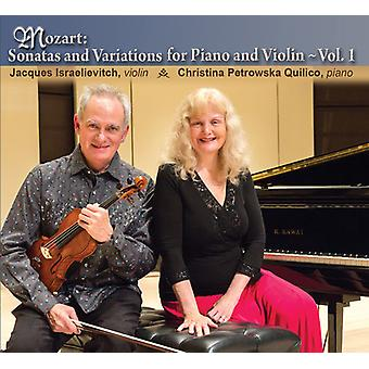 Mozart, W. / Israelievitch, Jacques - Mozart: Sonater & Viariations for klaver og Violin [CD] USA import