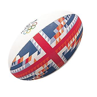 GILBERT team GB offisiell OL MIDI rugby ball [rød/blå]