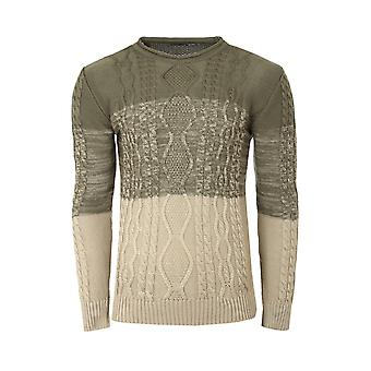 Tazzio fashion sweater mens knitted sweater round neck khaki
