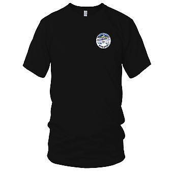 US Navy Blue Nase tragen Polarkreis gestickt Patch - Mens-T-Shirt