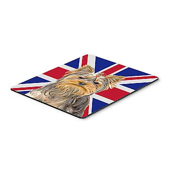 Yorkie / Yorkshire Terrier with English Union Jack British Flag Mouse Pad, Hot P