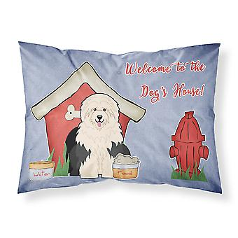 Dog House Collection Old English Sheepdog Fabric Standard Pillowcase