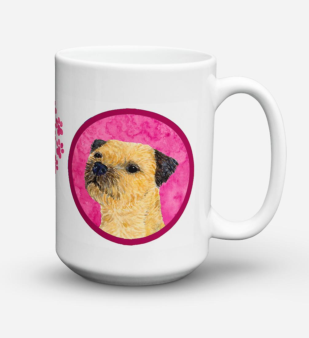 Café ondes Sûre Micro 15 vaisselle Lave Tasse Terrier Oz Céramique Border Pour WIHYe9ED2
