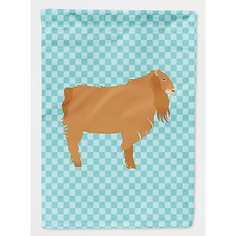 Carolines tesoros BB8059GF jardín de bandera americana Lamancha cabra azul cheque tamaño