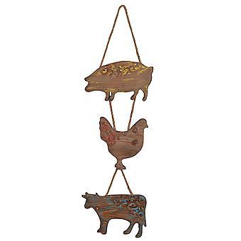 أ آند ب المنزل 42089 10x35.5 بوصة مزرعة الحيوانات جدار الفن