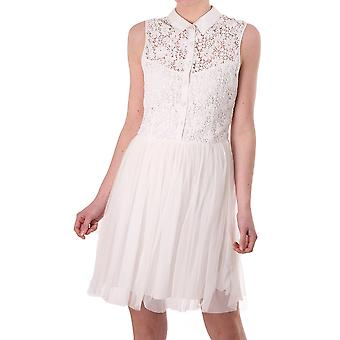 Brigitte Bardot Womens Sleeveless Crochet Button Through Dress