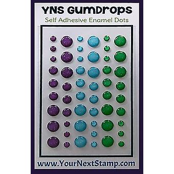 Your Next Stamp Gumdrops Embellishments 54/Pkg-Fairy Magic Sparkly YNSGD-085