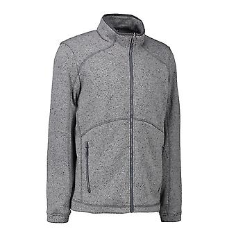 ID Mens Zip N Mix Full Zip Melange Fleece