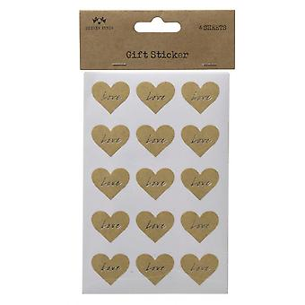 Love Heart Sticker Set (4 Sheets)