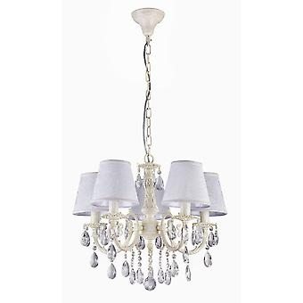 Maytoni Lighting Filomena Elegant Collection Chandelier, Ivory