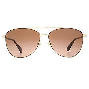 Ralph By Ralph Lauren Pilot Sunglasses In Pale Gold