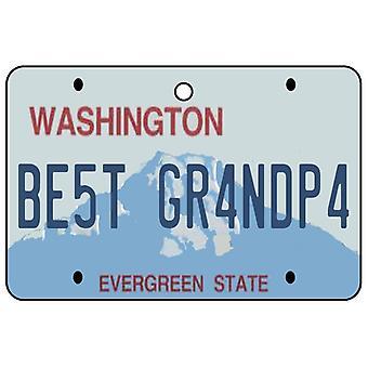 Washington - el mejor abuelo licencia placa ambientador