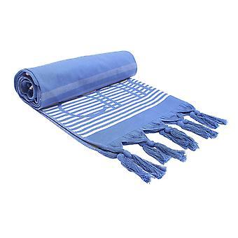 Dyr Mira vævet strand tæppe - støvet blå