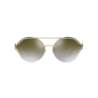 Versace V Powerful Sunglasses In Pale Gold Brown Gold Mirror