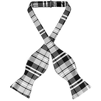 Vesuvio Napoli SELF TIE BowTie PLAID Design Men's Bow Tie