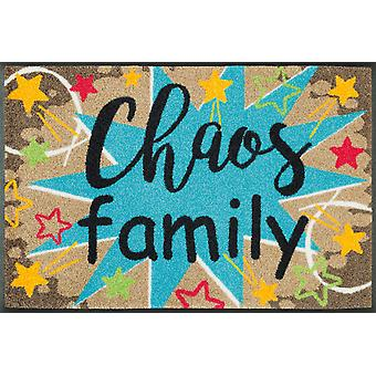 wash + dry mat chaos family 50 x 75 cm. washable dirt mat