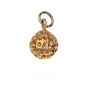 9ct Gold 9mm solid Golf Ball Pendant or Charm