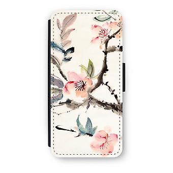 iPhone 5c Flip Case - Japenese flowers