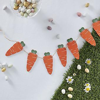 Wooden Carrot Bunting  1.5m