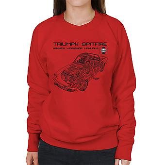 Haynes Owners Workshop Manual 0113 Triumph Spitfire Black Women's Sweatshirt