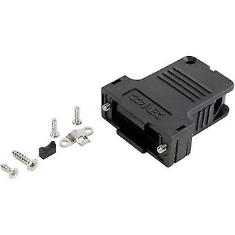 D-SUB housing Number of pins: 50 Plastic 45 ° Black