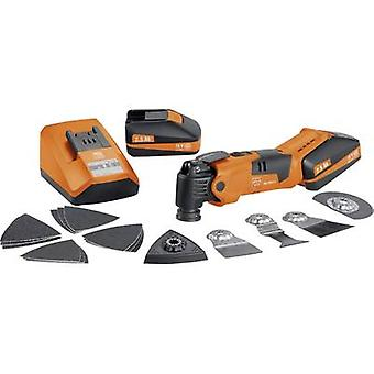 Cordless multifunction tool incl. spare battery, incl. case 21-piece