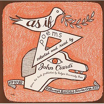 John Ciardi - As If: Poems New & Selected by John Ciardi [CD] USA import