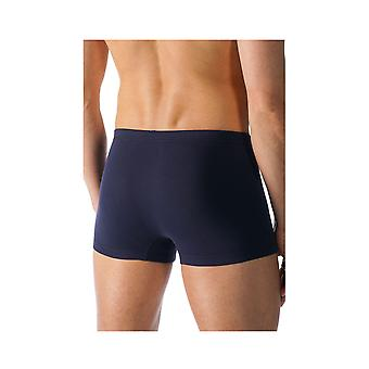 Mey 49121-668 Men's Casual Cotton Blue Solid Colour Fitted Boxer