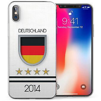 iPhonegeval X Duitsland De vlag Voetbal Rusland World Cup 2018 TPU Gel