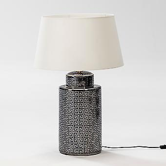 Wellindal Table Lamp 23x51 Ceramic Blue and Silver Without Screen