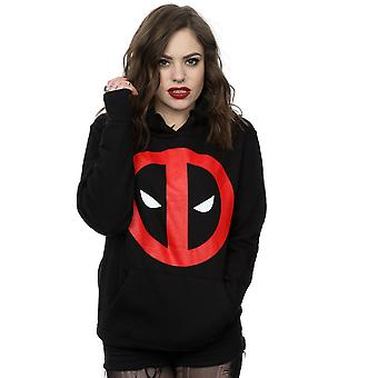 Marvel Women's Deadpool Clean Logo Hoodie
