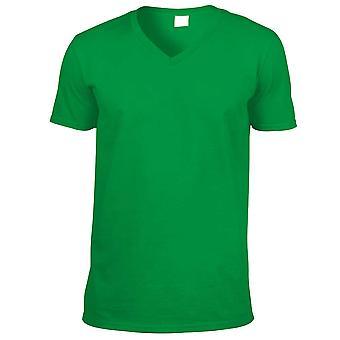 Gildan Mens Short Sleeve Softstyle V-Neck Cotton T-Shirt