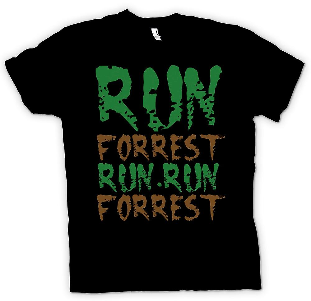 Mens t-shirt-Run, Forrest, Run! -Preventivo divertente