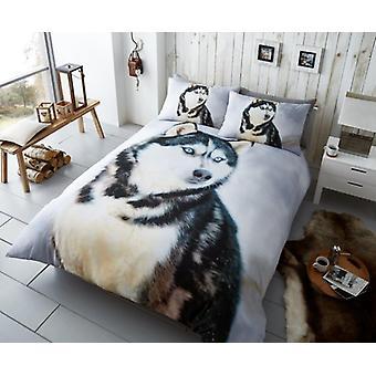 3D Animal Husky Dog Premium Duvet Cover Bedding Set