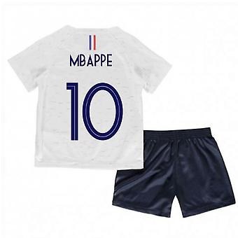 2018-2019 France Away Nike Little Boys Mini Kit (Mbappe 10)